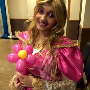 Balloon Twister in Princess Costume