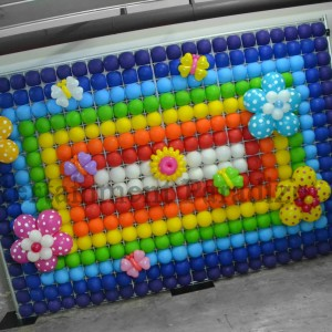 Balloon panel backdrop