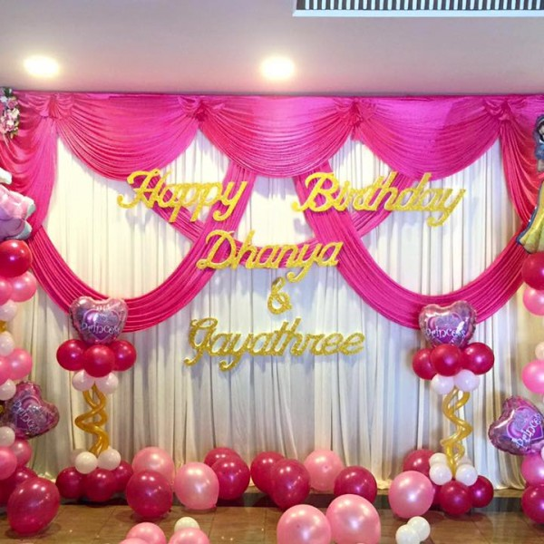 Double Layer Swags Backdrop Magical Wonderlande