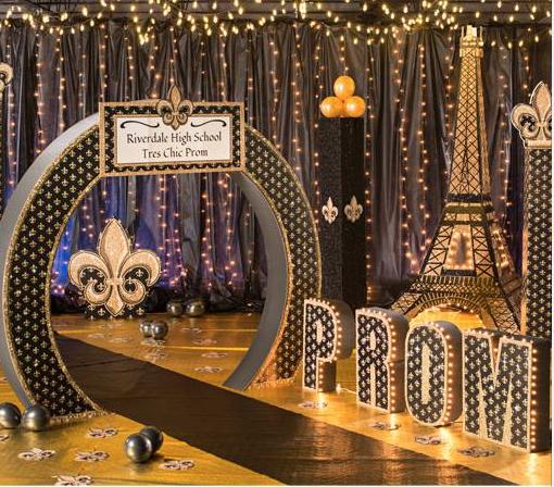Classic Paris Prom Night Decoration Magical Wonderlande