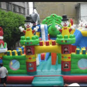 Clown Playland Bouncy Castle