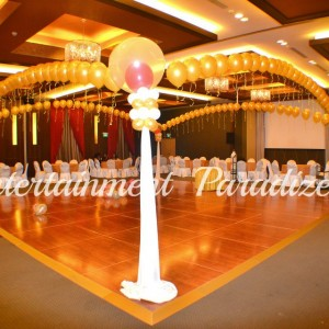 Dance Floor Balloon Arch