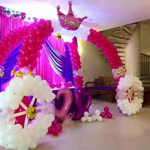 Princess Carriage Balloon Arch