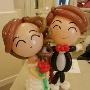 Reception Table Wedding Balloon Couples