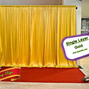 Single Layer Backdrop Gold