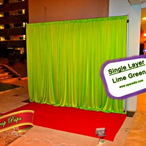 Single layer Backdrop Lime Green