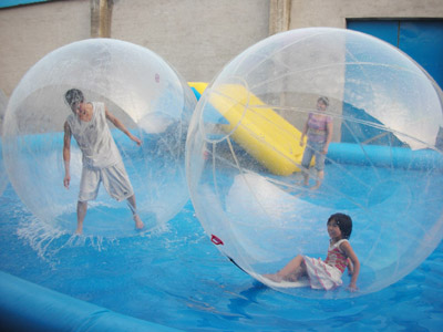 Water Zorb Balls with pool