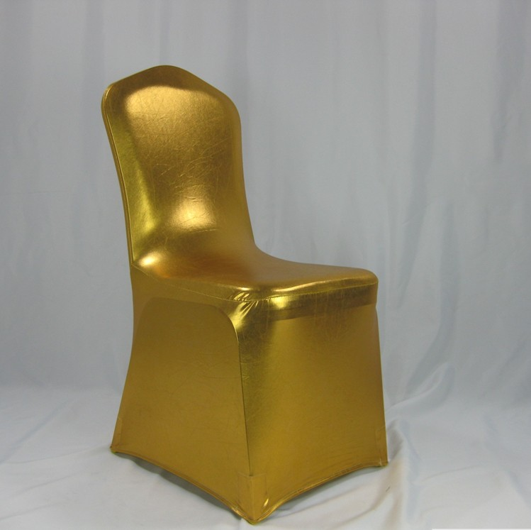 Sale! Metallic Gold Chair Cover Spandex Singapore